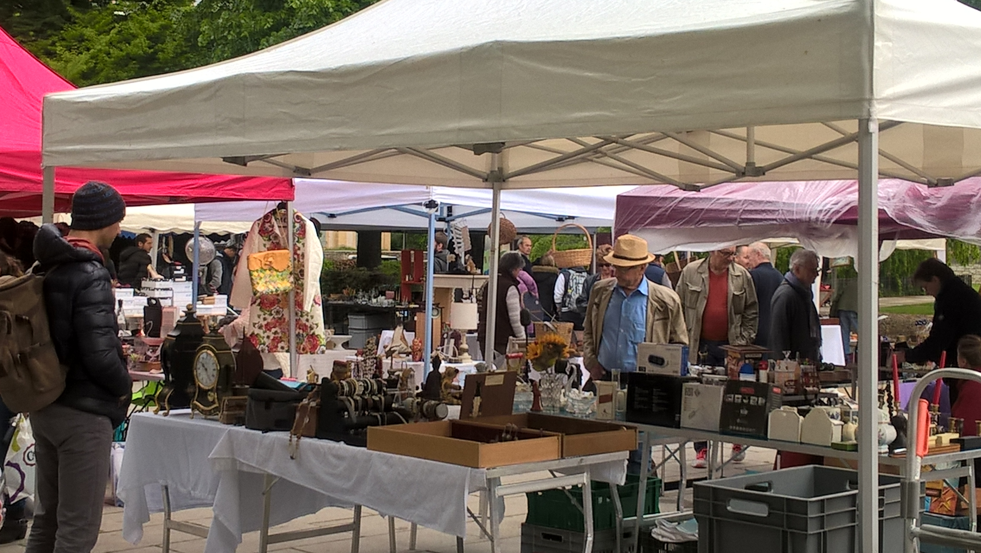 March aux puces manifestation neuch tel for Brocante jardin anglais