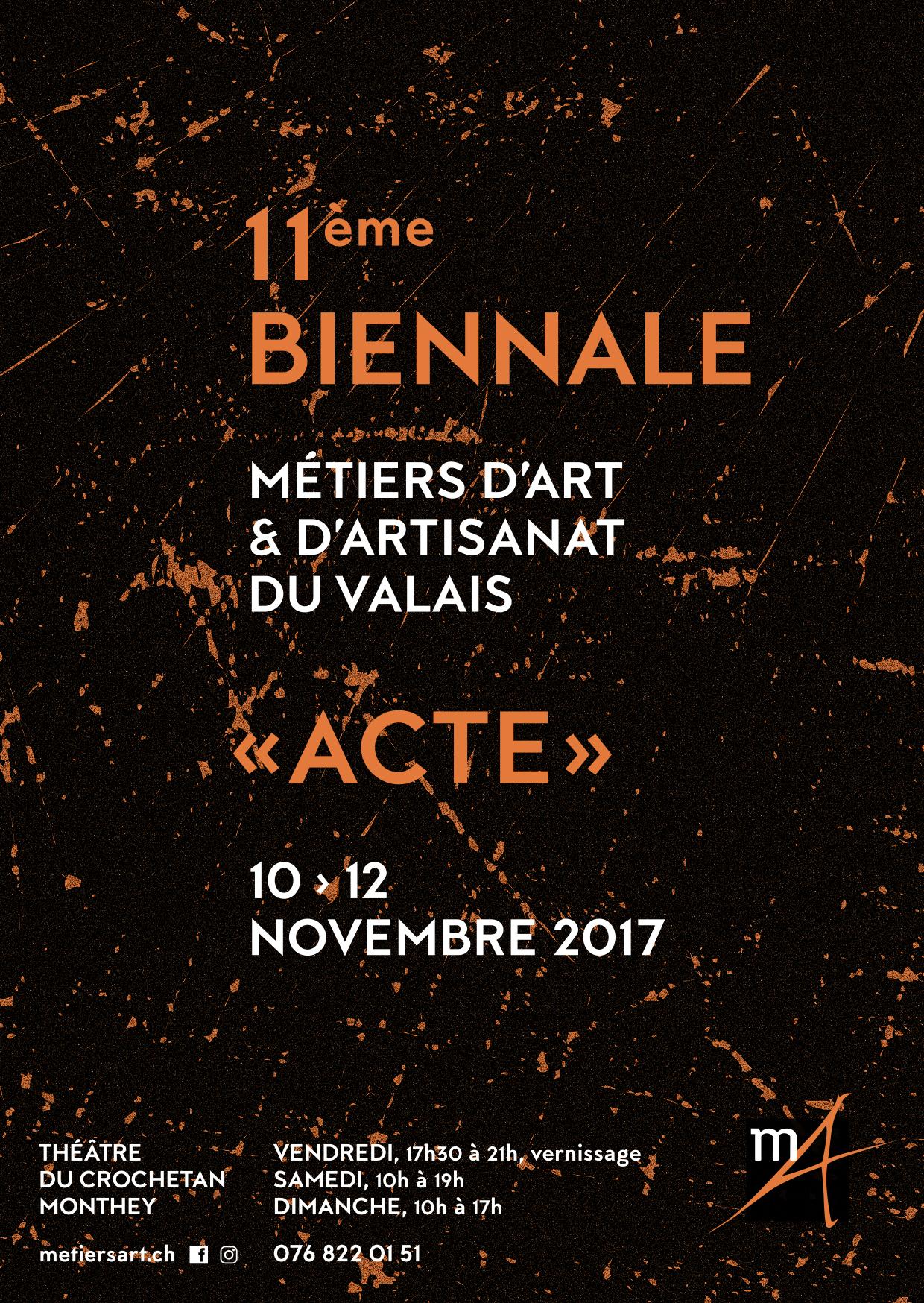 11 me biennale des m tiers d 39 art et d 39 artisanat du valais for Biennale artisanat d art