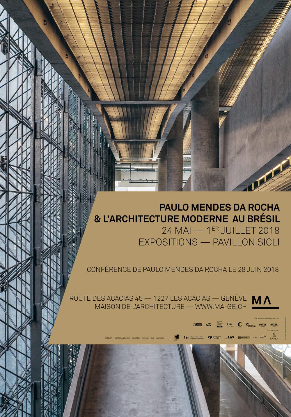 paulo mendes da rocha l 39 architecture moderne au br sil exposition les acacias. Black Bedroom Furniture Sets. Home Design Ideas