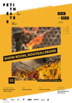 """Affiche du spectacle """"Show room, nouveau drame"""""""