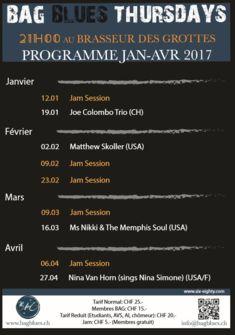 Photo (BAG) : Le BAG organise des soirées musicales tous les jeudis en collaboration avec le BDG Club au Brasseur des Grottes (6, rue de la Servette, Genève). Blues Association de Genève
