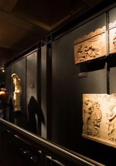 Fondation Martin Bodmer, vue sur les murs de l'exposition