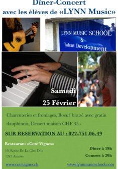 Soirée LYNN et ses élèves - Dîner-Concert