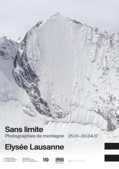 Affiche de l'exposition Sans limite. Photographies de montagne (c) Musée de l'Elysée