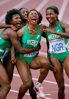 Nigerian Relay Team, Barcelona, 1992