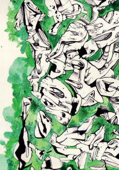 Vie, orgie verte, n°1 (détail) 2017 - Bastien Conus