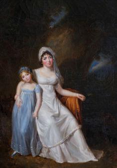 Portrait de Germaine de Staël et sa fille Albertine, Élisabeth-Louise Vigée Le Brun, Coll. Château de Coppet