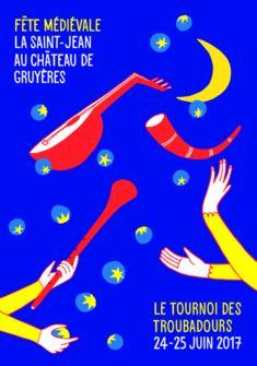 Affiche de la Saint Jean 2017 Château de Gruyères