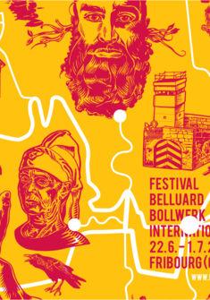 Affiche du Belluard Festival 2017 René Walker - Belluard
