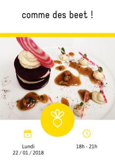 Cours de cuisine thématique sur la betterave