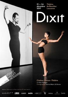 Dixit - Béjart Ballet Lausanne Graphisme: avalanchedesign.ch, Photo: Lisa Roehrich, Photo projetée: Getty