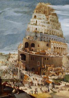 La Tour de Babel, Abel Grimmer, 1604, Grande-Bretagne, collection particulière.