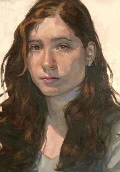 Portrait d'une jeune femme, peinture à l'huile de P. Stalder P. Stalder 2017