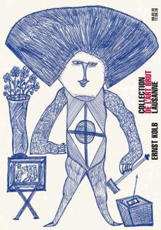 affiche Ernst Kolb Collection de l'Art Brut Lausanne