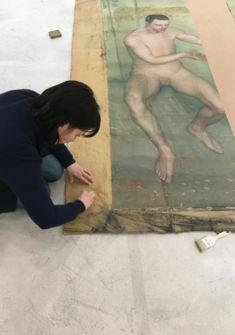 Anouk Gehrig, restauratrice d'art Musée des beaux-arts / AZ