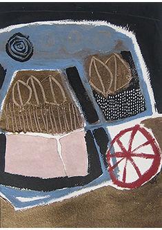 «Hibernation» – Acrylique, craie et huile sur papier, 30x40cm © Sylvie Aubert