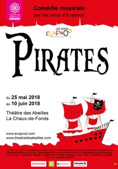 PIRATES, Evaprod, comédie musicale Evaprod
