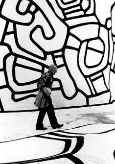 Kurt Wyss, Jean Dubuffet sur la Closerie Falbala, Périgny-sur- Yerres, 3 août 1973
