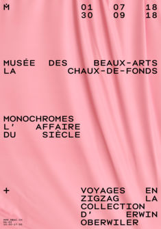 affiche expositions temporaires Musée des beaux-arts, La Chaux-de-Fonds