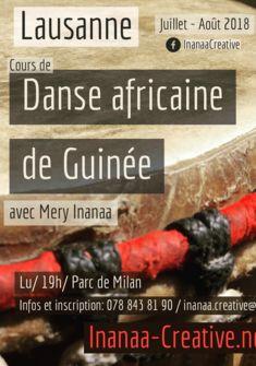 Cours collectif de danse africaine de Guinée à Lausanne Inanaa Creative