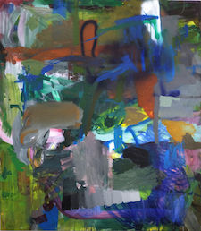 2018, titel9, 160 x 140 cm, Acryl auf Leinwand2 Reto Leuthold