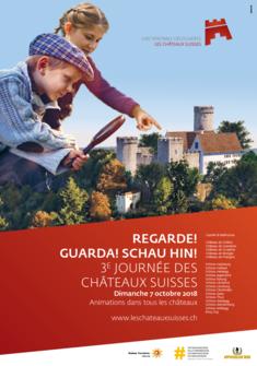 Affiche de la journée des châteaux suisses 2018 DR
