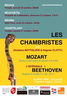 Concert de Les Chambristes Octobre 2018