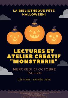 Affiche Halloween Bibliothèque de Rolle Bibliothèque de Rolle