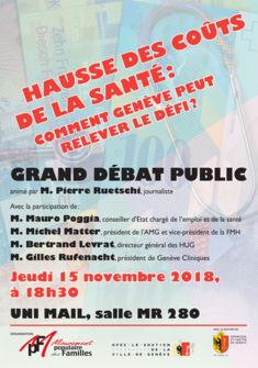 Affiche du débat public du 15.11.2018 Mouvement Populaire des Familles