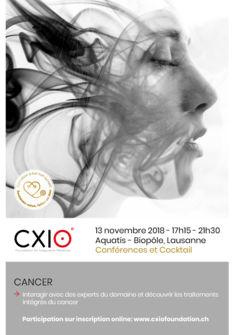CANCER : 13 novembre à Lausanne CXIO Foundation