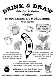 Drink and Draw Martigny Drink and Draw Martigny