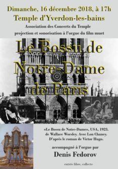 Le Bossu de Notre-Dame eu Temple d'Yverdon-les-Bains Association des concerts du Temple