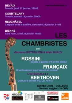 Concert Les Chambristes janvier 2018