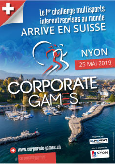 AFFICHE CORPORATE GAMES SWISS
