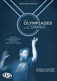 affiche Olympiades de l'impro impro suisse