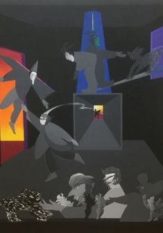 "René Myrha, ""Curiosités VI"", 2014, acryl sur toile, 160x130cm Ditesheim&Maffei Fine Art"