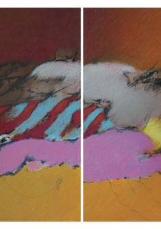 """érrance"" pastel, diptyque, 80x110cm, 2017 Maurice Frey"