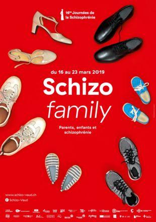 Affiche des Journées de la Schizophrénie 2019 : Schizo'Family