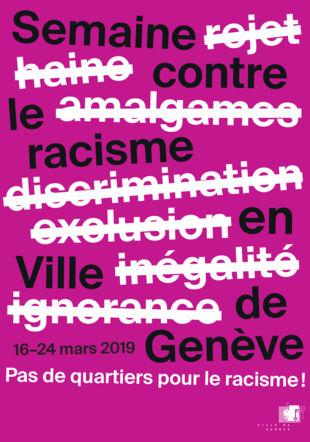 Affiche Semaine contre le racisme Ville de Genève