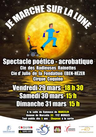 Affiche créée par les travailleurs en atelier socialisant Cité Radieuse, Echichens