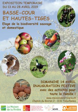 """Affiche de l'exposition """"Basse-cour et hautes-tiges"""" La Maison de la Rivière"""