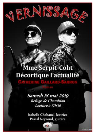 """Vernissage du roman """"mme Serpit-Coht décortique l'actualité"""""""