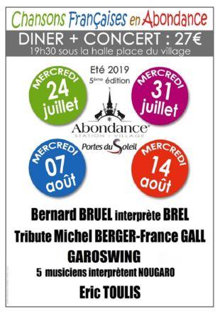 Affiche Festival Chansons Françaises en Abondance Abondance Tourisme