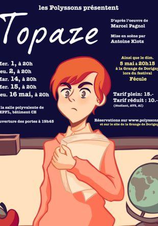 Affiche Topaze Eugénie Bouquet