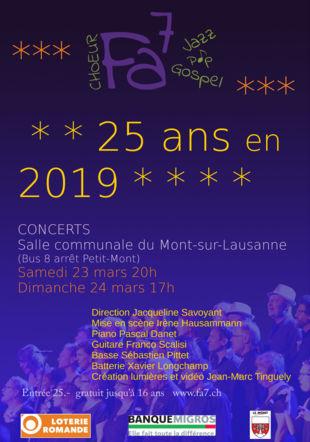 Annonce des concerts de Fa7 Choeur Fa7