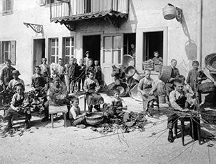 Jeunes gens au travail - Jura bernois 1914-1915