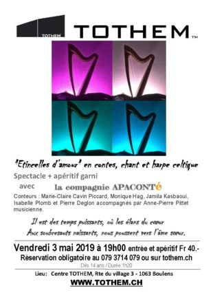 """Flyer """"Etincelles d'amour"""""""