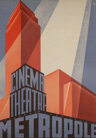 Affiche Cnéma-Théâtre Métropole, vers 1932