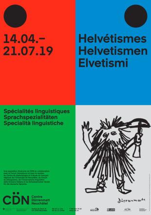 Graphisme : onlab.ch. Image : Friedrich Dürrenmatt, Tell, feutre sur papier, 20.5 x 14 cm, collection Beatrice Liechti, © CDN/Confédération suisse