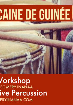 Vevey - Workshop de danse africaine de Guinée - Live Percussion Mery Inanaa